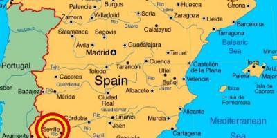 Sevilia Arată Hartă Hărți Sevilla Andaluzia Spania